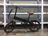 """セリウム20の""""隠されたリチウム電池が付いている軽い都市電気折る自転車"""