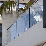 Het beste Traliewerk van het Glas van de Montage van de Sponnen van het Roestvrij staal van de Prijs Buiten voor Terras