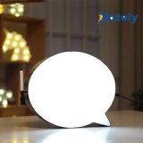 Messaggio LED della scrittura a mano della bolla di discorso del regalo della decorazione di natale