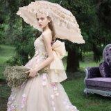 Длинная ручка новоприбывших кружева солнечный сезон дождей принцесса моды творческих свадебный зонтик для женщин леди женщин невесты красочные