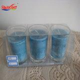 Jarra de cristal esmerilado por velas de cera de soja