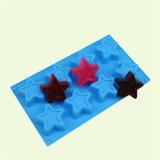 Molde pequeno do silicone do grupo da forma da estrela das pilhas Sy03-04-019 8 para o sabão