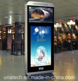 Visualización video montada en la pared del LCD de la muestra de Digitaces del jugador de interior del anuncio del supermercado de la alta calidad