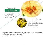 Sapone naturale ed organico di 100% di fronte & barra di pulizia facciale