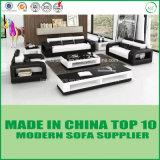 Zeitgenössisches Möbel-modernes Wohnzimmer-Leder-hölzernes Sofa