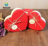 Doos van de Gift van het Karton van de Vorm van het Hart van de Druk van de Verkoop van China de In het groot Hete Elegante Rode