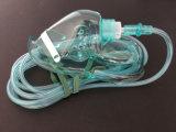 Máscara de oxígeno del PVC con el clip ajustable de la nariz