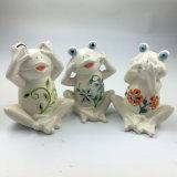 庭の装飾のためのHotsaleの白い陶磁器のカエル