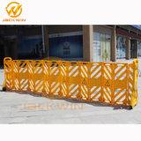 Barriera di plastica espansibile di colore giallo di controllo di folla del bordo della strada