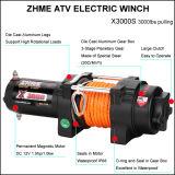treuil électrique de corde synthétique de vitesse rapide de la traction 3000lbs pour ATV/UTV