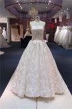 Trägerlose Spitze, die Abend-Abschlussball-Cocktail-Hochzeits-Kleid bördelt