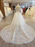 China-Fabrik-reale Probe stellt Hochzeits-Kleid-Brautkleid-lange Hülse dar
