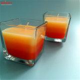 Velas de cristal grandes cuadradas coloreadas multi del tarro con el aroma del 3%