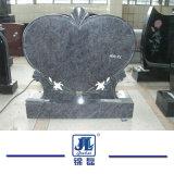 Дешевое черное высеканное сформированное сердце подгоняет Headstone мрамора & гранита/надгробную плиту/Monument для европейского типа