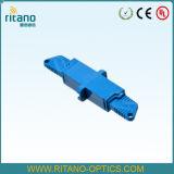 Переходники кабеля оптического волокна E2000/Upc с малопотертым на 0.2dB с пластичной голубой домом