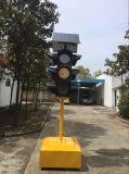 Angeschaltene LED-rote blinkende Verkehrs-Solarwarnleuchte