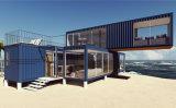바닷가에 3 X40FT 조립식으로 만들어지는 조립식 모듈 움직일 수 있는 콘테이너 집