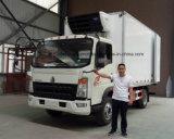 HOWOの4X2によって冷やされている貨物自動車は食糧5トンのトラックをリフレッシュする