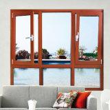 Aluminiumrahmen-hölzernes Korn-Schwingen-Fenster mit indischer Art