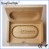 De houten Sleutel USB van het Embleem van de Douane van de Doos Verpakkende Houten (xh-usb-127)