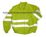Uja005poli/de tecido de algodão cubra pano reflexivo Parka Casaco Worksuit Raincoat