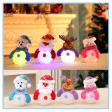 Ornamentos pendientes del árbol de navidad de Papá Noel del muñeco de nieve del LED
