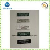 Escritura de la etiqueta tejida impresión lavable de la ropa de la etiqueta de la ropa de la talla del paño de la ropa (Jp-Cl155