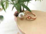 Diseños de imitación del anillo de la perla de la joyería de Custome de la venta al por mayor de la fábrica de Guangzhou