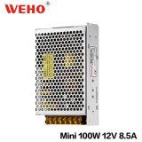 Bloc d'alimentation de télévision en circuit fermé de la taille 100W 12V Ms-100-12 de boîtier aluminium de Weho mini