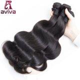 Onde brésilienne de corps de cheveu de Vierge d'extensions de cheveux humains de 100%