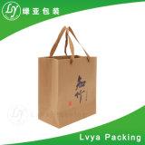 Il commercio all'ingrosso ricicla il sacchetto d'acquisto ambientale durevole della carta kraft Con la maniglia