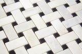 Mosaico Mixed Polished di Basketwave con il PUNTINO nero