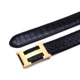 Cintura hecha punto genuina Blet de la piel de la vaca de la piel del cocodrilo de la correa de cuero de los hombres