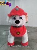 Perro de pata de animal a pie de patrulla de suspensión para el gran centro comercial