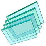 Único incêndio do painel - vidro resistente