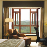 Окно качания зерна алюминиевой рамки деревянное с индийским типом