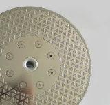 전기도금을 한 180mm는 플랜지를 가진 톱날을