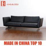 Muebles superiores modernos de 2017 nuevos del grano del sofá del negro sofás del cuero