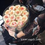 Yageli Su confiable suministrador Caja de acrílico rosa flor rosa caja caja de embalaje