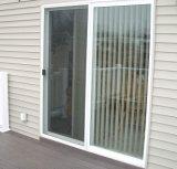 Puerta deslizante de aluminio del vidrio Tempered con la red de mosca