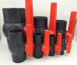 Шариковый клапан гаечной резьбы PVC материальный