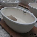 Diseño italiano Sanitaryware superficie sólida sobre la bañera de hidromasaje