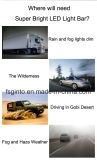 "21… 3 "" SUV ATV를 위한 단 하나 줄 100W 반점 LED 표시등 막대"