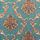 Flor de luxo em relevo o papel de parede decorativos de parede