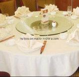 Coperchio bianco 100% della Tabella del panno della Tabella dell'hotel del cotone del lusso