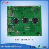 Syb128X64 L1V11 LCD COB Stn FSTN Display Yellow Green/Blue 12864 LCD Module