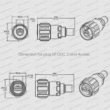 Cpriのファイバー光学屋外の2および4はパッチ・コードFtta Odc IP67コネクターを防水する