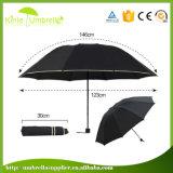 La lluvia promocional/Sun del paraguas de encargo invirtió el paraguas de 3 dobleces