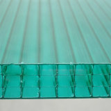 Hoja hueco del policarbonato de cuatro paredes para el invernadero Breeding