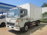 Il camion refrigerato 4X2 di HOWO 5 tonnellate di alimento rinfresca il camion